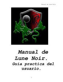 Manual Lune Noir. Guía practica del Usuario LN.
