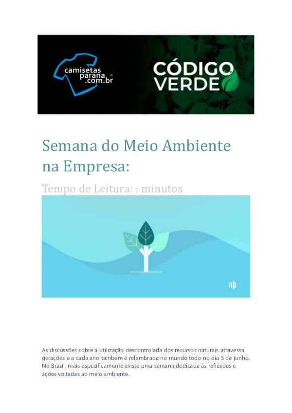 Catálogo de Produtos Camisetas Paraná Semana do Meio Ambiente na Empresa