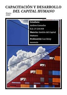 Capacitación y desarrollo del capital humano