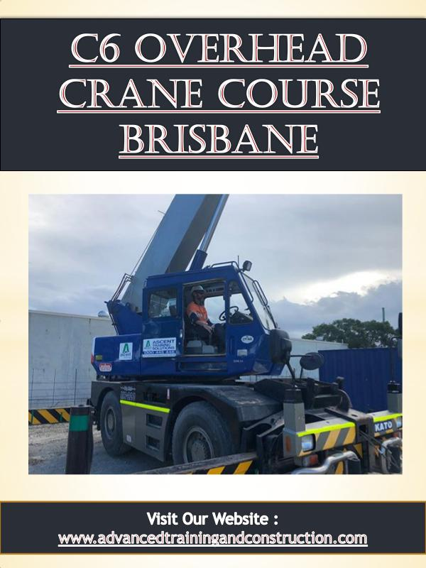 Basic Scaffolding Certification Brisbane | Call - 0756580040 C6 Overhead Crane Course Brisbane