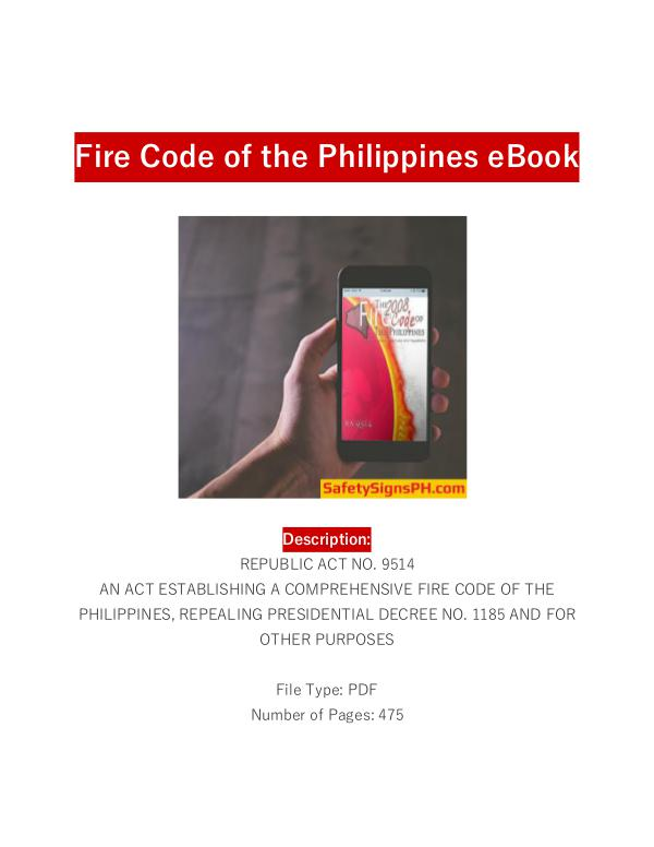 Fire Code of the Philippines Ebook - SafetySignsPH.com Fire Code of the Philippines eBook - SafetySignsPH