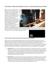 Tools, Safety, And Woodwork Projects: Become A Woodworking Craftsman