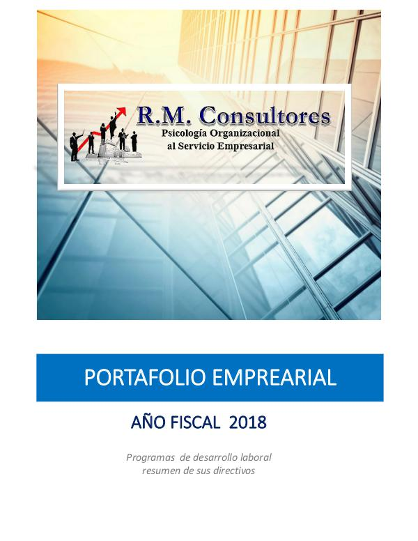 RM Consultores - Portafolio Empresarial Portafolio 2018 - RM Consultores