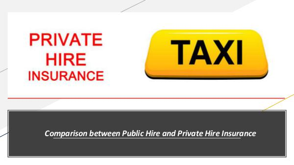 Comparison between Public Hire and Private Hire In