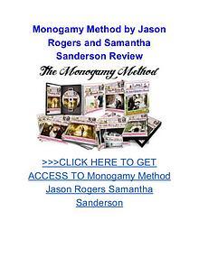 Monogamy Method Jason Rogers Samantha Sanderson