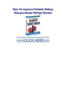How To Improve Diabetic Kidney Disease Nicole Phillips