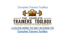 Complete Trainers Toolbox