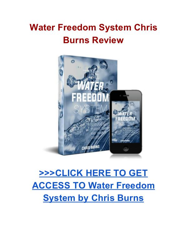 Water Freedom System Chris Burns review Water Freedom System Chris Burns pdf download