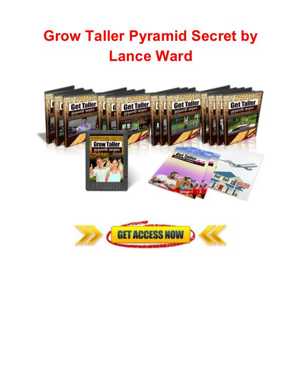 Grow taller pyramid secret Lance Ward Grow taller pyramid secret Lance Ward review