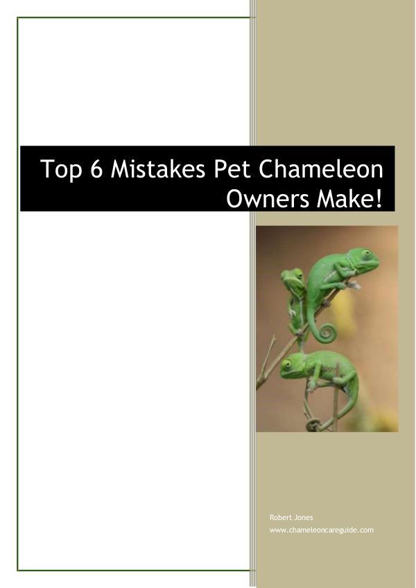 Chameleon Care Guide Robert Jones Chameleon Care Guide Robert Jones