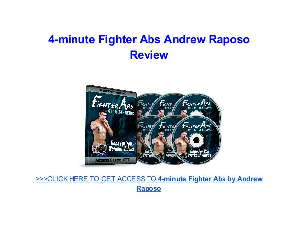 4 Minute Fighter Abs Andrew Raposo 4-minute Fighter Abs Andrew Raposo Review
