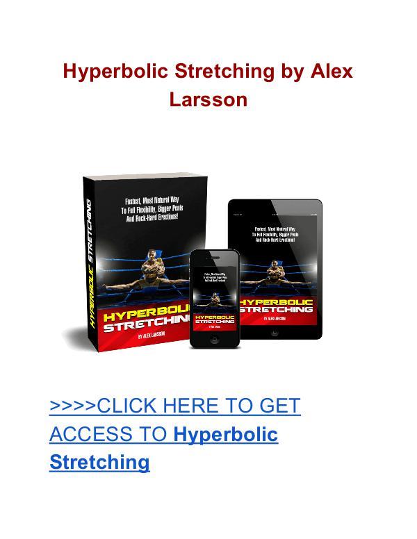 Hyperbolic Stretching Alex Larsson Alex Larsson Hyperbolic Stretching review
