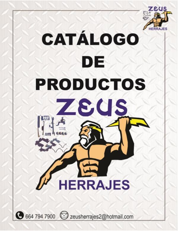 Catálogo CATÁLOGO ZEUS HERRAJES- ZH