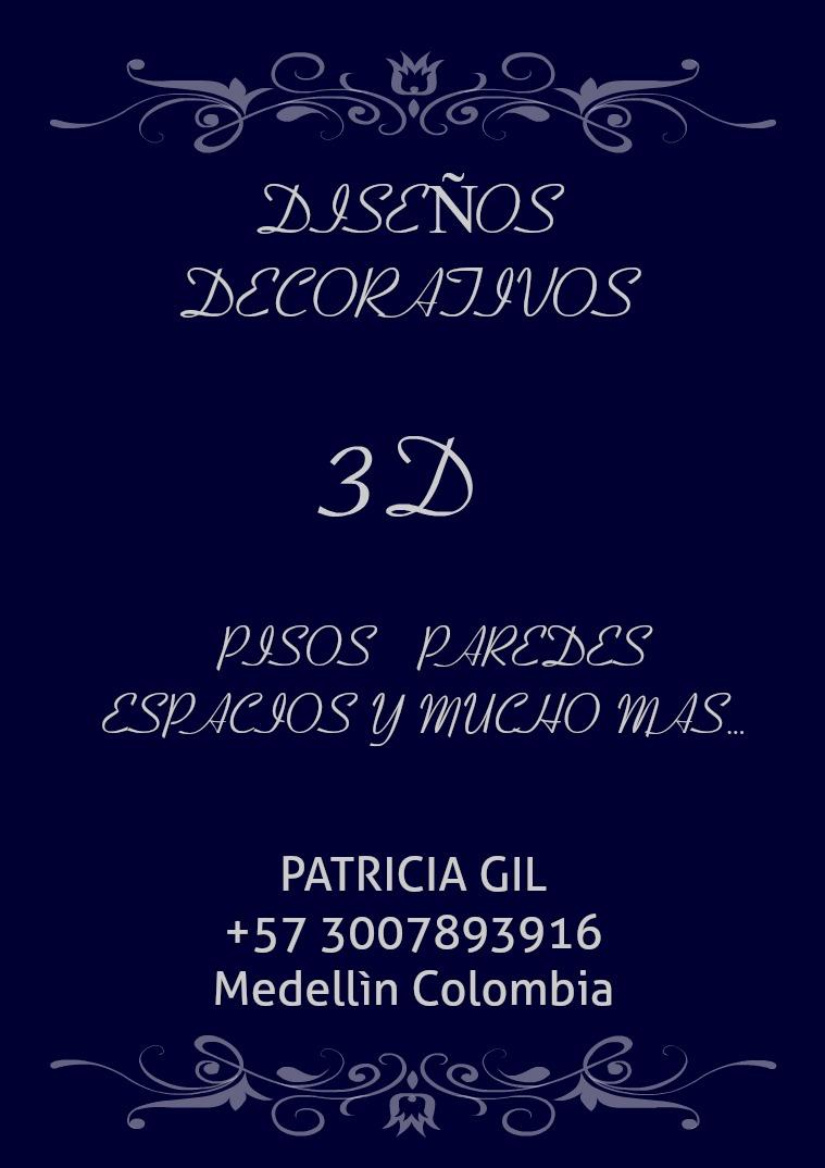 3D DISEÑOS DECORATIVOS, PANELES DE YESO  Y  PORCELANATO LIQUIDO TODO 2019