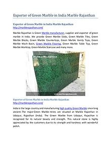 Exporter of Green Marble in India Marble Rajasthan