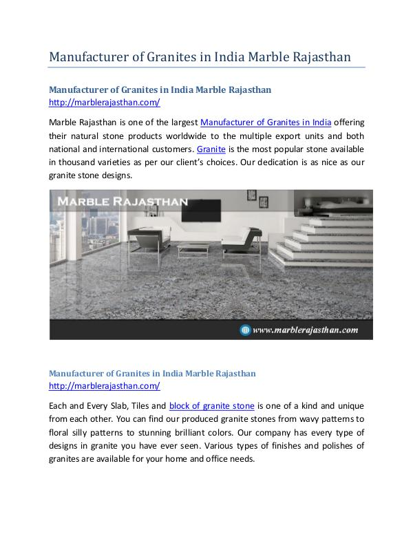 Manufacturer of Granites in India Marble Rajasthan Manufacturer of Granites in India Marble Rajasthan