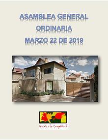 Asamblea General Quintas de Guaymaral 2019