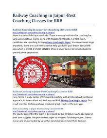 Railway Coaching in Jaipur- SHREE JI Study Center