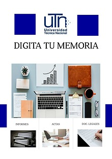 Memoria Curso Digitación III