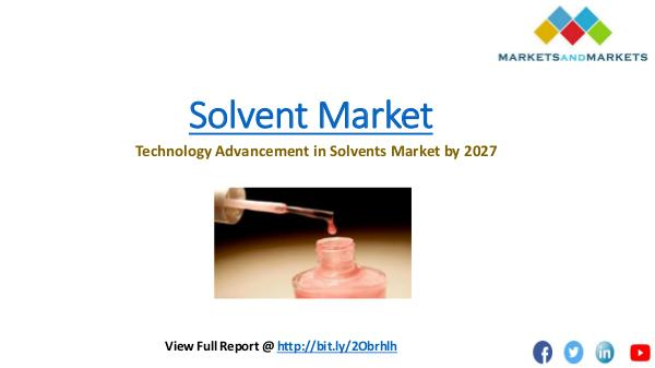 Solvents Market