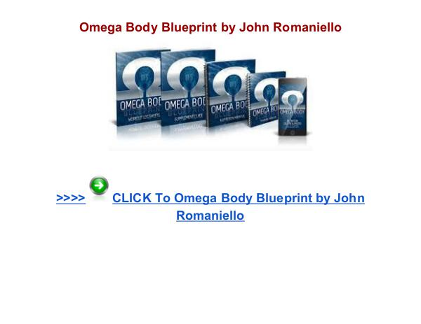 Omega Body Blueprint John Romaniello Omega Body Blueprint review