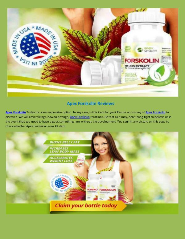 Apex Forskolin Reviews ! Weight loss Apex Forskolin Reviews-converted