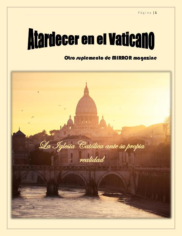 Mi primera publicacion Suplemento el Vaticano