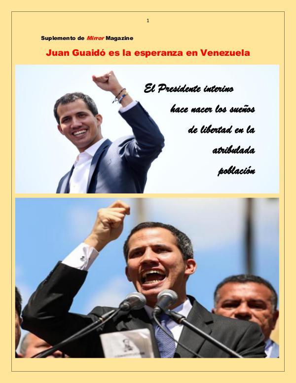 Guaidó es la esperanza de Venezuela Venezuela en el corazón