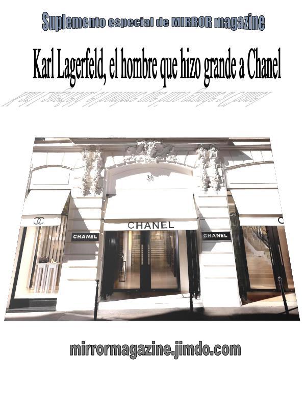 Karl Lagerfeld, el genio de Chanel suplemento KARL LAGERFELD
