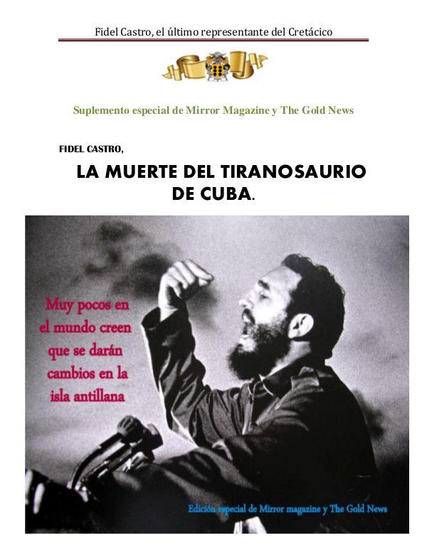 La muerte del tirano Fidel Castro Suplemento Fidel Castro