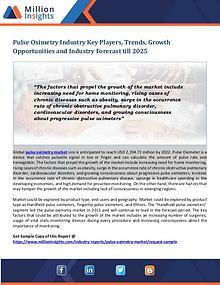 Pulse Oximetry Industry