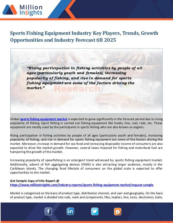 Sports Fishing Equipment Industry Sports Fishing Equipment Industry