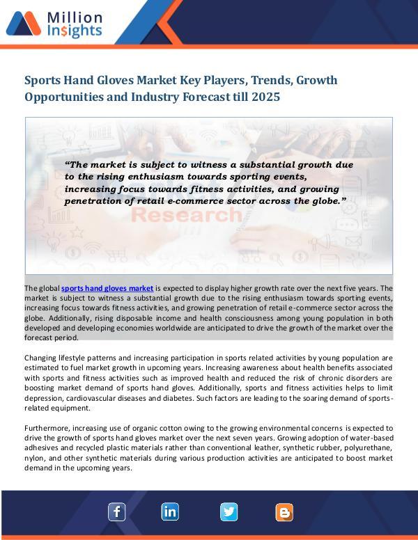 Sports Hand Gloves Market Sports Hand Gloves Market