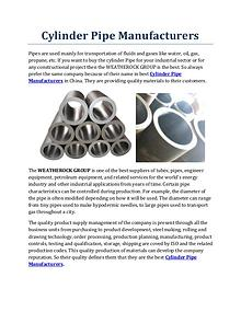 Cylinder Pipe Manufacturers