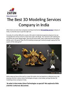 The Best 3D Modeling Services Company in India