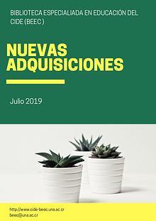 Nuevas adquisiciones - Julio 2019