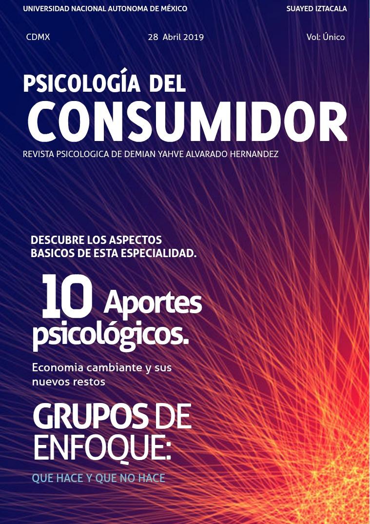 Psicología del consumidor. Primer publicación de Demian Alvarado