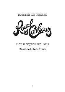 Dossier de presse Royal Cambouis