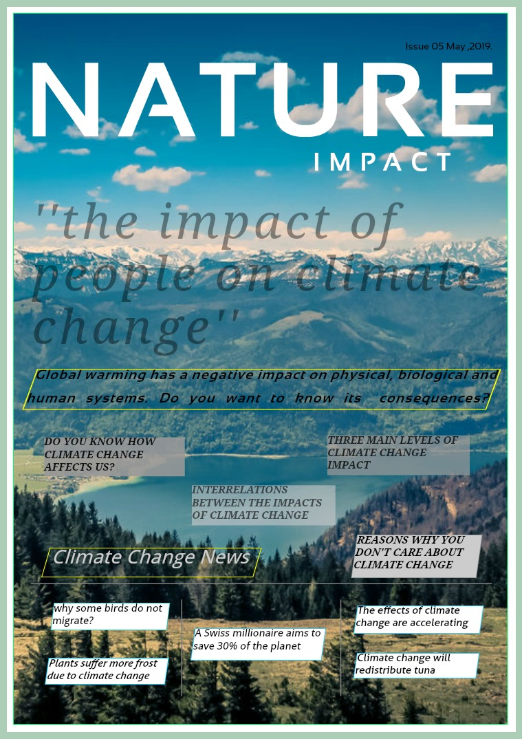 The impact of people on climate change 1