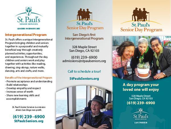 St. Paul's Senior Services St. Paul's Senior Day Program