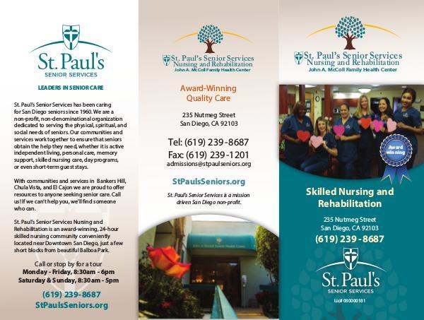 St. Paul's Senior Services St. Paul's Senior Services Nursing Rehabilitation