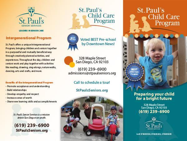 St. Paul's Senior Services St. Paul's Child Care Program