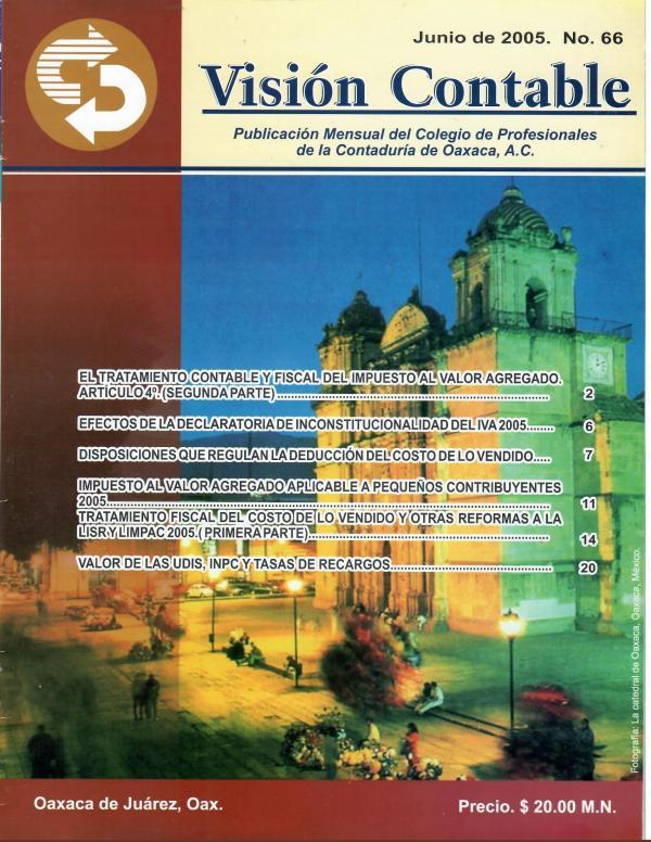 Mi primera publicacion REVISTA VISION CONTABLE NUM.66