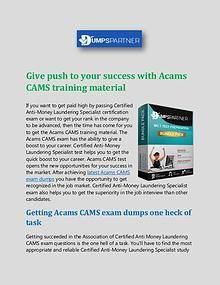 IT - Download CAMS Cheat Sheet with Up to Date Questions