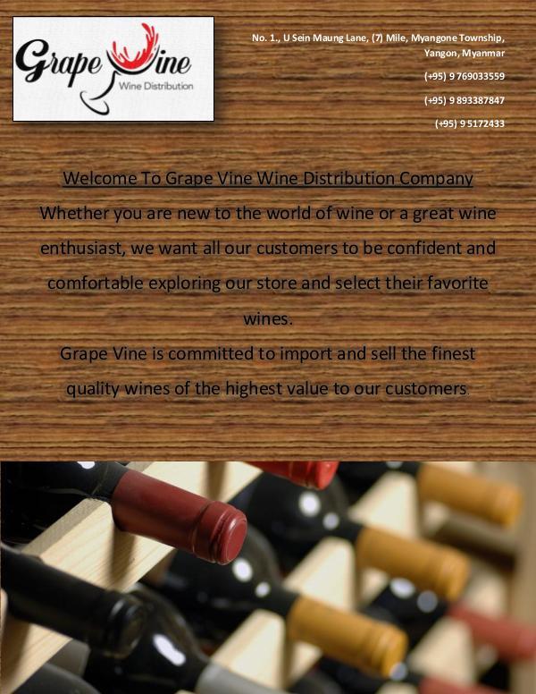 Grape Vine Wine Distribution Full Catalog