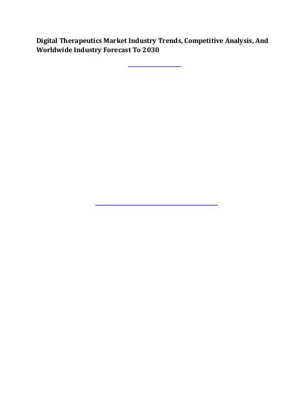 MIR Digital Therapeutics Market Industry Trends