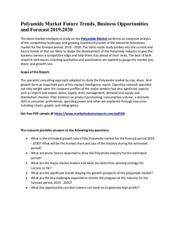 Polyamide Market Overall Study
