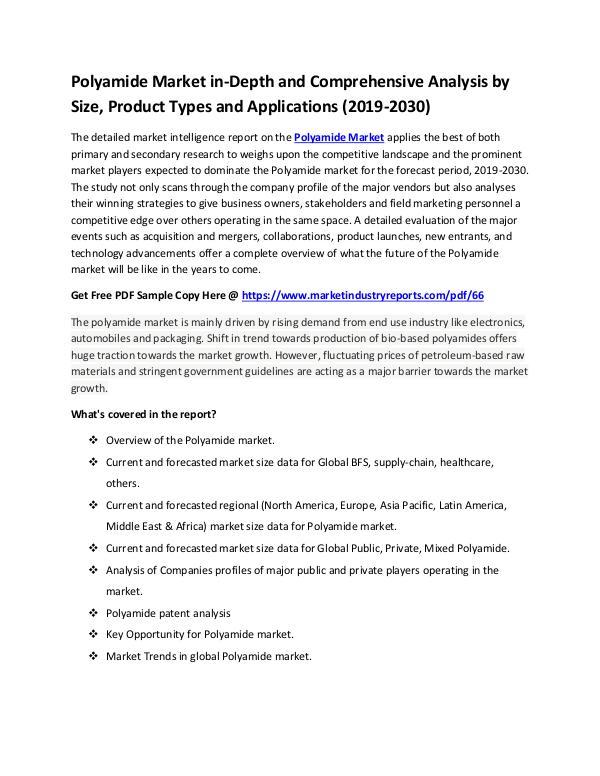 Polyamide Market Comprehensive Analysis
