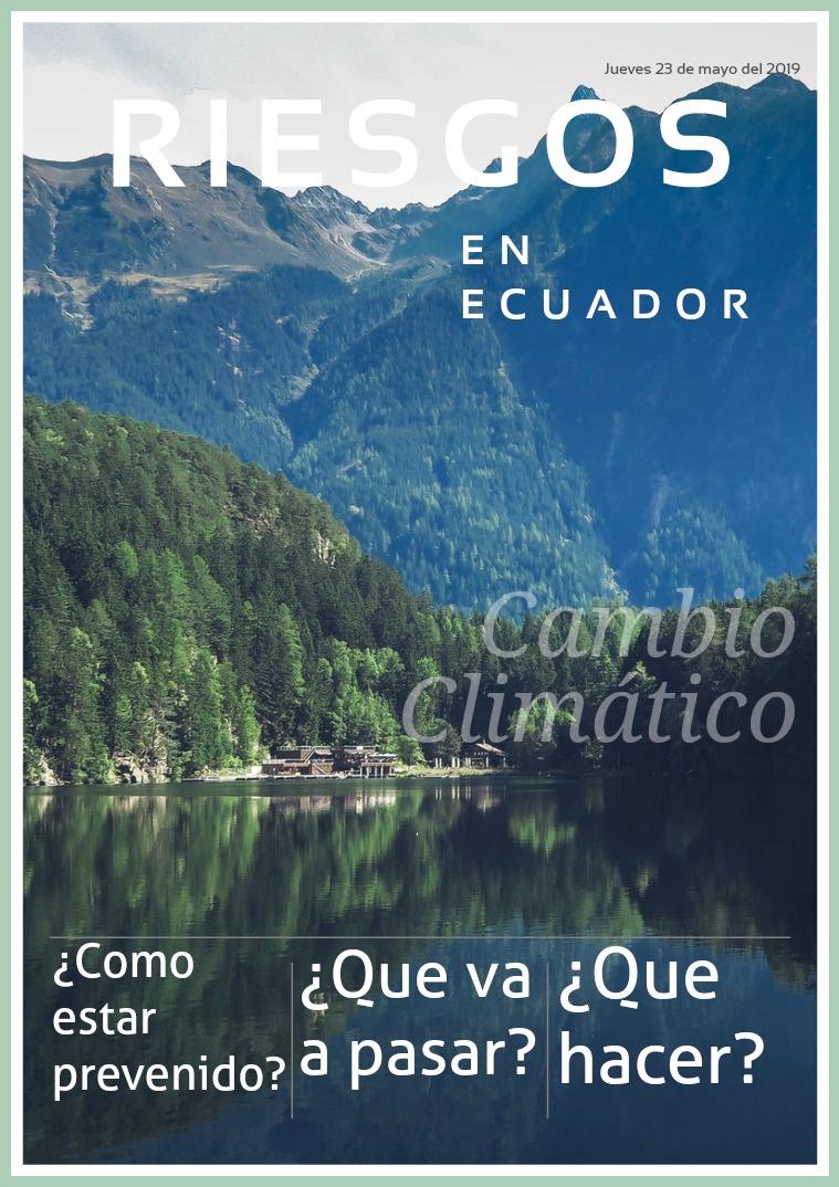 Riesgos en el ecuador Riesgos en el Ecuador