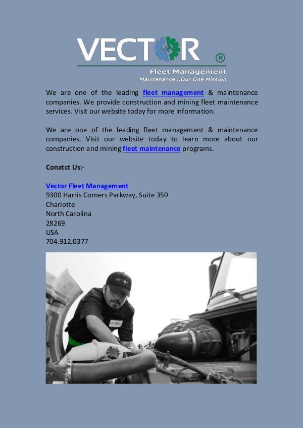 Fleet Management Company | Vector Fleet Fleet Management Company  Vector Fleet